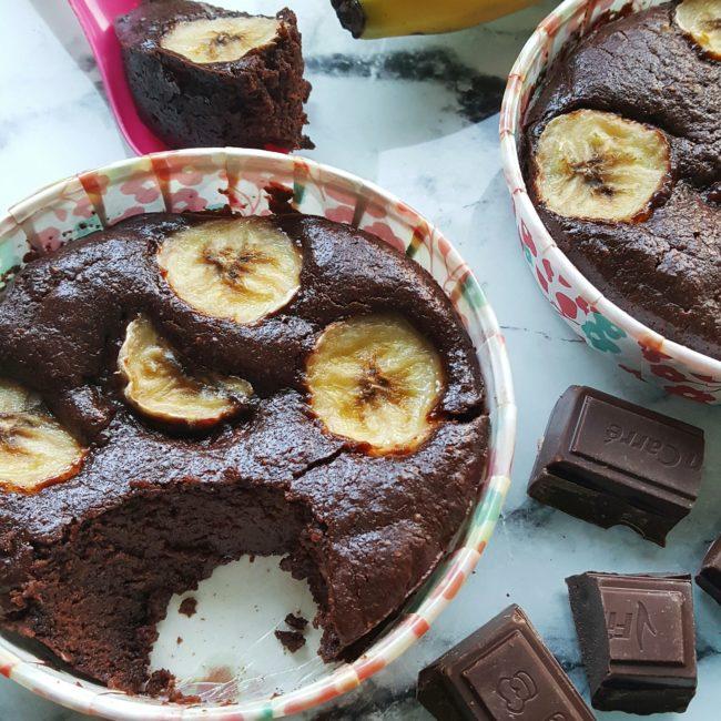 Le moelleux au chocolat et à la banane