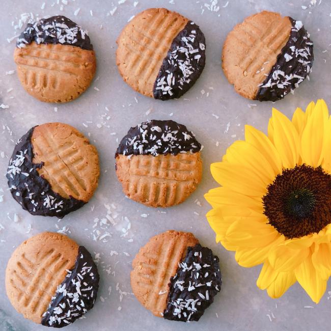 les cookies au beurre de cacahuètes et chocolat de Snackies